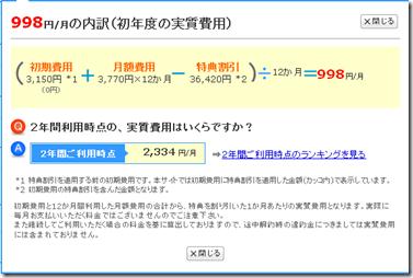 WiMAXが価格.comで激安 実質月額998円のプランも