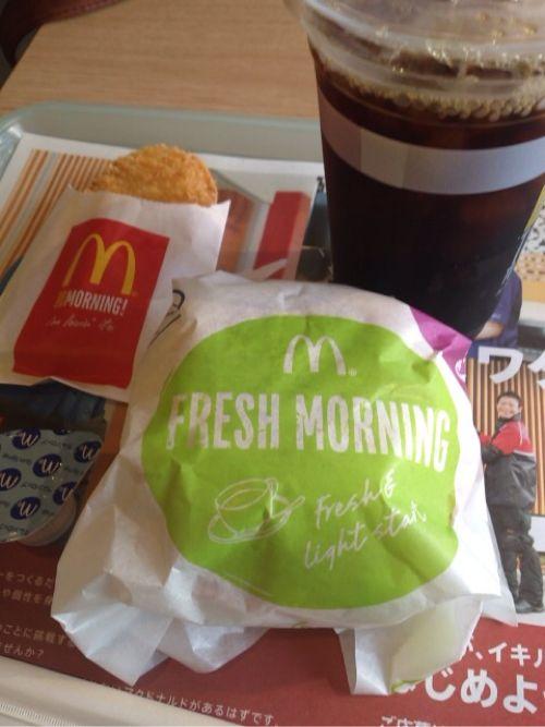 [マクドナルド]朝の新商品『フレッシュマフィン』を食べてみた